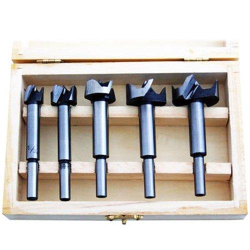 XTools 5 Pc Forstner Flat Bottom Blind Hole Bit Set - 15,20,25,30,35mm by Xtools