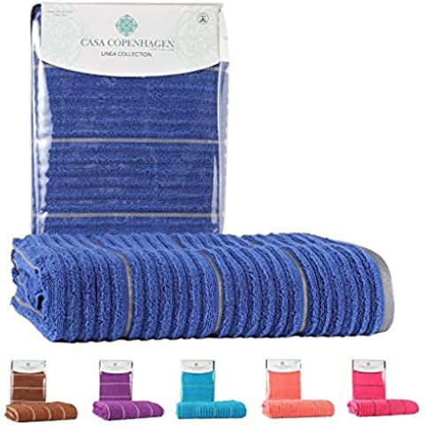 Casa Copenhagen Linea Collezione stecca torsione zero - asciugamani da bagno in cotone, qualità 550 g/m², Colore: Deep Sapphire