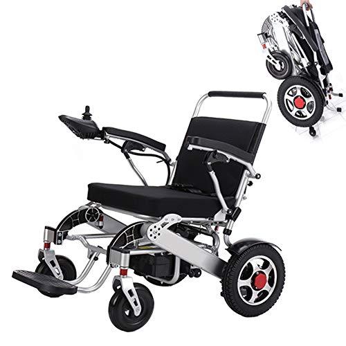Z-SGLY Leichter elektrischer Elektrorollstuhl,Faltbarer Power Kompakter Mobilitätshilfe-Rollstuhl,Wasserdichter 360-Controller-Joystick,Einstellbare Geschwindigkeit,tragbarer medizinischer Roller