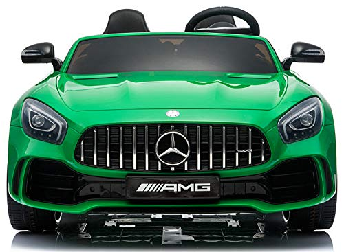 Kalco TOYS UK� Latest 2019 Large Two Individual Seats Official Licensed Mercedes AMG GT R With 4 Motors 24V Battery 4WD Childrens Electric Ride On Car Kids With Parental Remote Control (GREEN)