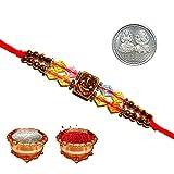 Multicolor Colorful Designer Stone Pearl Beautiful Stylish Multi Design Buy Rakhi Online for Brother