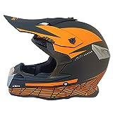 MJW Erwachsenen Motocross-Helm, Vier Saison-Motocross-Helm, Offroad-Rennsport Abseilen Pedal Helm Männlich,D,L