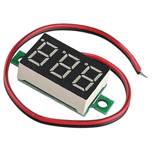 Haljia 0,9cm DC 4.80V-30.0V voltmetro pannello 2fili LED rosso display digitale misuratore di tensione Volt regolatore per auto Automotive tester batt