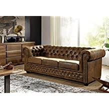 355b6160ac1c89 Canapé Chesterfield (Brun Café) - OXFORD