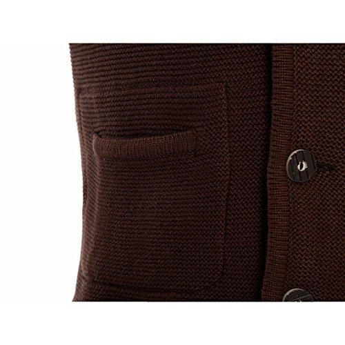 ALMBOCK Herren Strickjacke | Cardigan für Männer in dunkel-braun | Trachten Strickjacke | Größen S, M, L, XL, XXL, XXXL - 3