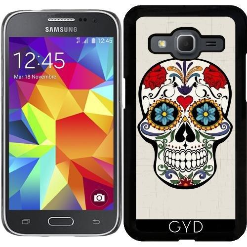 Hülle für Samsung Galaxy Core Prime (SM-G360) - Schädel Mit Blumen Boho...