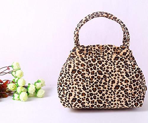 Leopard Print Canvas Handtasche (Speedmar Lunch Box Tasche Canvas Casual weibliche Handtasche Lunchbox Tasche (Leopard Print))