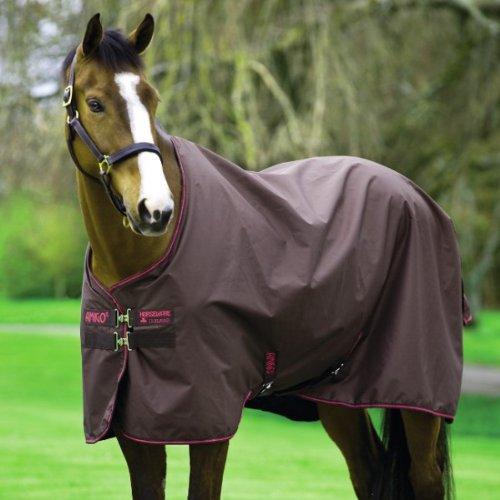 Horseware Amigo Hero 6 Turnout - 50g - Chocolate with Chocolate & Raspberry, Groesse:145