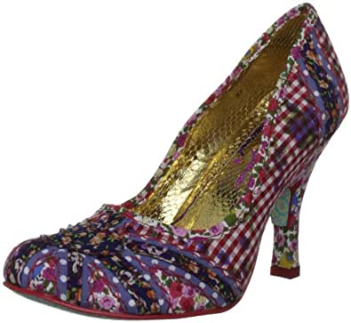 Irregular Choice Patty Women's Mid Heel Court Shoe 3.5 UK Red (Red Floral)