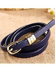 WZW Première couche minces ceintures de cuir couleur bonbon