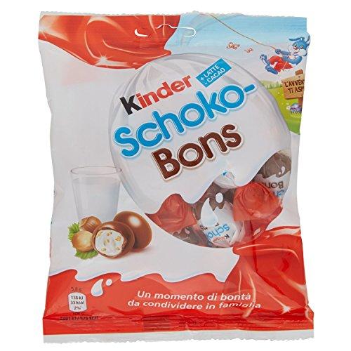 Kinder Shoko Bons Ovetti di Cioccolato al Latte e Nocciola in Sacchetto - 8 confezioni da 125g