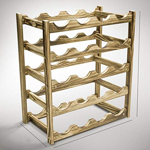LYLQQQ Weinregal Massivholz weinregal Multi-Standard/arbeitsplatte Display Flasche Rack Handwerk/Kiefer weinregal Halterung (größe : 45.5×25.5×51cm) -