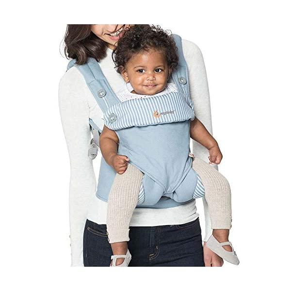 Ergobaby 4 Position 360 Baby Carrier, Azure Ergobaby Four ergonomic positions Maximum comfort for parent Comfort & proper ergonomics for baby 1
