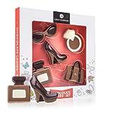 Mode-Set aus Schokolade - Geschenk für Frauen, Geschenk Muttertag, Schuh aus Schokolade, Schokoladenhandtasche