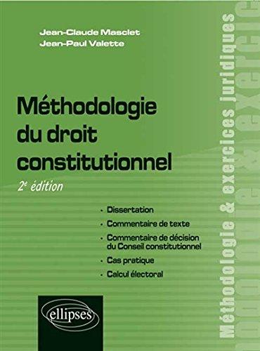 Mthodologie du Droit Constitutionnel