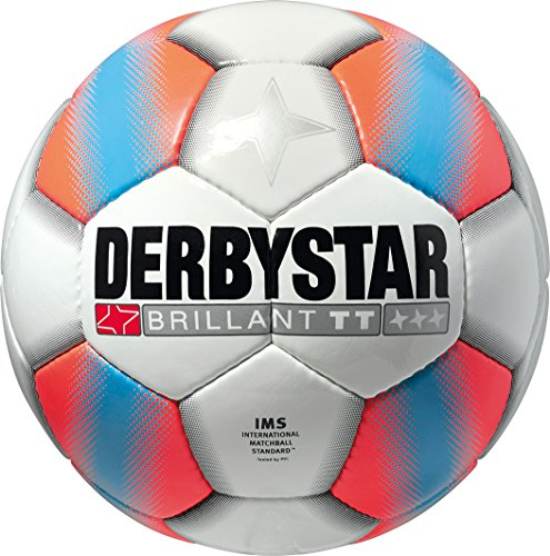Derbystar Fußball Brillant TT, Weiß/Orange, 5, 1238500176