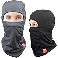 [2-PACK] Dimples Excel Balaclavas for Men Ski Mask Balaclava Hat for Motorcycle Snowboard Outdoor Activities in Winter