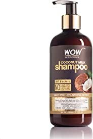WOW Coconut Milk No Parabens, Sulphate, Silicone, Salt & Color Shampoo, 300mL
