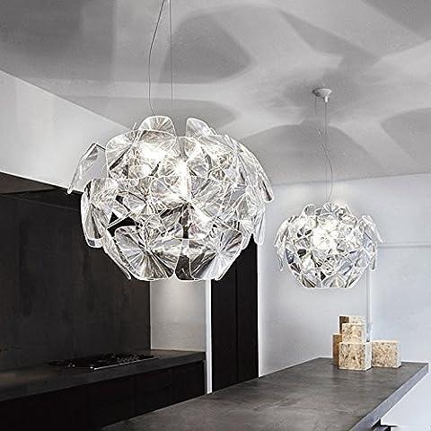 YanCui@ Sala da pranzo minimalista moderno lampadario soggiorno camera da letto studio arte laser Pigna Lampadario,61CM