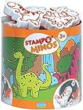 Unbekannt Aladine 85123 - Stampo Minos Dinosaurier, 10 Stempel und 1 Stempelkissen
