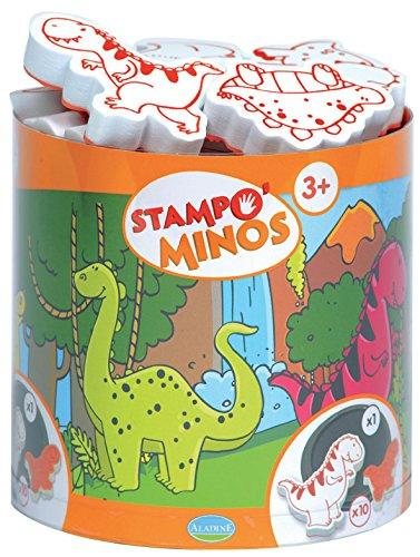 Unbekannt Aladine 85123 - Stampo Minos Dinosaurier, 10 Stempel und 1 Stempelkissen Preisvergleich