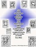 Fácil Kábala Libro de colorear aprender alfabeto hebreo simbolismo secreto sentido detrás de las letras relajarse Disfruta La página de izquierda ... para visualizar por el artista Grace Divine