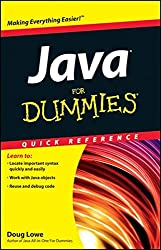 Java For Dummies Quick Reference by Doug Lowe (2012-06-05)