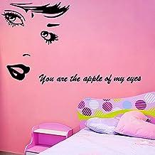 ufengke® Palillo Figura Belleza Cabeza Retrato Pegatinas De Pared,Sala De Estar Dormitorio Removible Etiquetas De La Pared / Murales