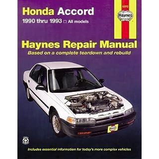 Honda Accord 1990-1993 (Haynes Manuals)