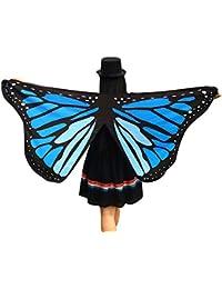 Ularma Bufanda de suave tela mariposa alas señoras traje de ninfa