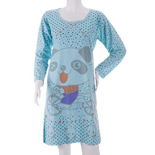 Lucky Brand - Chemise de nuit - Femme Bleu - Blue - Light blue