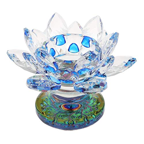 WSJTT Kristall Lotus Kerzenhalter Home Decoration Candelabra Taper Kerzenhalter, Hochzeiten, Home, Party Spa, Reiki, Votive, Candle Gardens O4 (Günstige Taper Kerzen)