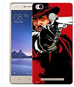 Indiashopers Combo of Shooter HD UV Printed Mobile Back Cover and Tempered Glass For Xiaomi Redmi 3s Prime