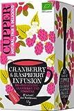 Cupper Früchte-Tee cranberry & raspberry infusion, Cranberry & Himbere, aromatisiert (20x2,5g), 50 g