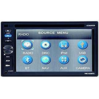 Audiovox VME 9325 BTA Headunit with Navigation Mix-Mode (15.7 CM (6.2 Inches) Touchscreen DVD ±R/RW / Card Slot, USB 2.0)