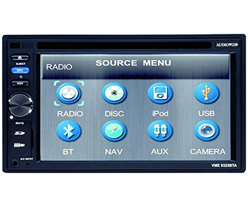 Audiovox Portable Radio (Audiovox VME 9325 BTA Headunit mit Navigation Mix-Mode (15,7 cm (6,2 Zoll), Touchscreen, DVD±R/RW, Kartenslot, USB 2.0))