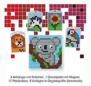 Pracht Creatives Hobby P90031-63501 - Juego de Manualidades para Manualidades (13 Piezas, para 4 medallones, Llavero, para niños, niños y niñas, Ideal como pequeño Regalo, para cumpleaños Infantiles)
