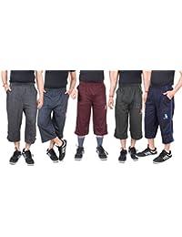 Krystle Boy's Cotton 3/4th Shorts|Capri (Pack of 5)