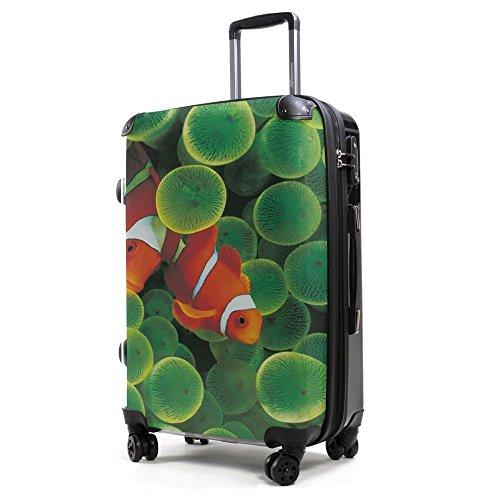 HAUPTSTADTKOFFER® 40 Liter (ca. 55 x 35 x 24 cm) · Handgepäck · Modell: STYLE · TSA Schloss · verschiedene Cover (Sonnenblume) Clownfish