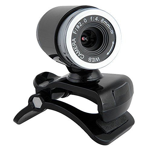 fitTek® USB 50MP Webcam Web Cam Kamera mit MIC für Desktop PC Laptop Winkeleinstellbar