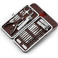 NIHAOZHIJIA 18 Stücke Edelstahl Nagelknipser Cutter Trimmer Ohr Pick Grooming Kit Maniküre Pediküre Set Toe Nail Art Tools Set, 4