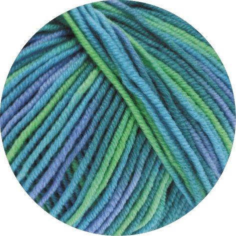 Lana Grossa Cool Wool Print 757 - Türkis/Petrol/Himmelblau/Hellgrün -