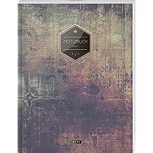 """TULPE Liniertes Notizbuch A4 """"C118 Schlichte Wand"""" (140+ Seiten, Vintage Softcover, Doppelrand, Seitenzahlen, Register - Dickes Notizheft, Deutschheft, Schreibheft, Schulheft, Tagebuch, Lineatur 27)"""