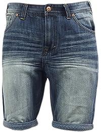 Shorts En Jean Pour Hommes Threadbare Neuf Imprimé Ourlet Revers Délavé Moyen Pantalon Été