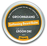 Groomarang Premium Softening Beard Balm For Beards, Mustache, & Goatee 60ml - Promotes Healthy Beard Growth - 100% Natural, Organic & Vegan