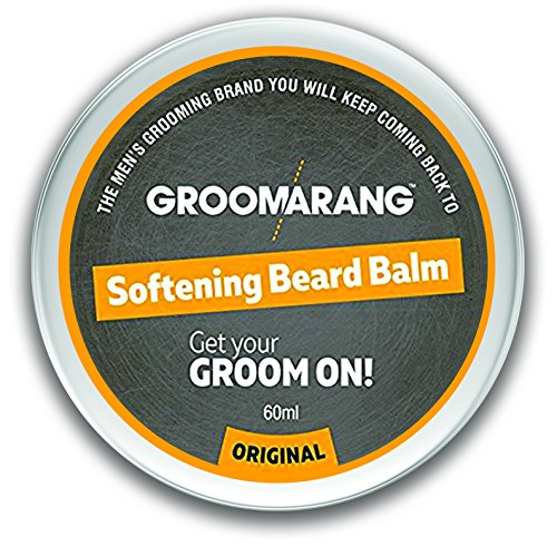 Groomarang Premium Softening Beard Balm For Beards, Moustache, & Goatee 60ml – Promotes Healthy Beard Growth – 100% Natural and Organic