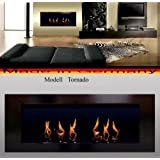 """BIO ETHANOL FIRE PLACE MODEL TORNADO (Black) by """"Fireplaces Manufacturer Mierzwa (DF-Shopping, Germany)"""""""
