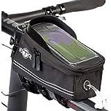 BTR Fahrrad Rahmentasche, Lenkertasche und Handy-Tasche mit Sonnenblende V4