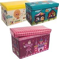 Preisvergleich für Spielzeugbox / Staubox / Aufbewahrungsbox / Spielzeugkiste 3 verschiedene Designs zur Auswahl