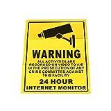 Hanbaili 10Pcs 24 Horas Monitor CCTV Vedio Alarma Alarma Etiqueta De Paredes Poster Seguridad Vigilancia Señal De Advertencia